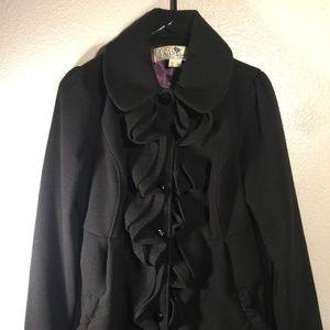 Jolt button down women coat M winter